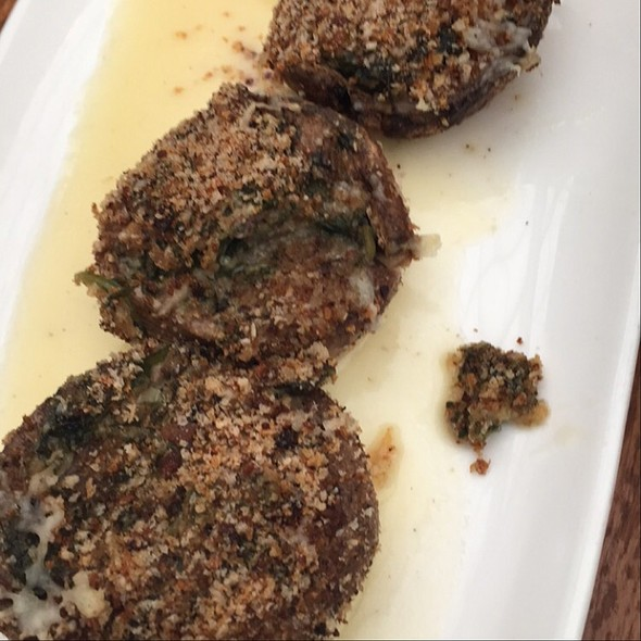 Spinach And Manchego Stuffed Mushrooms