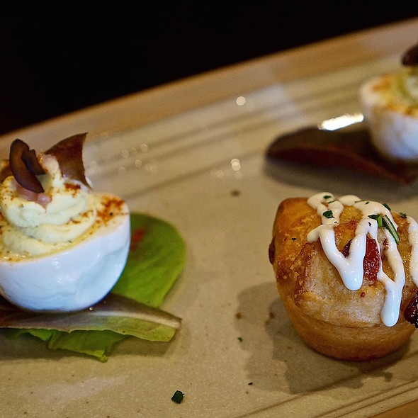 Deviled eggs and sticky biscuits @ The Asbury