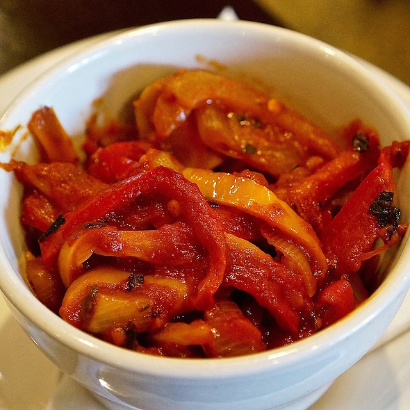 Sautéed summer vegetables – peppers, onions, tomatoes, squash, eggplant @ The Asbury