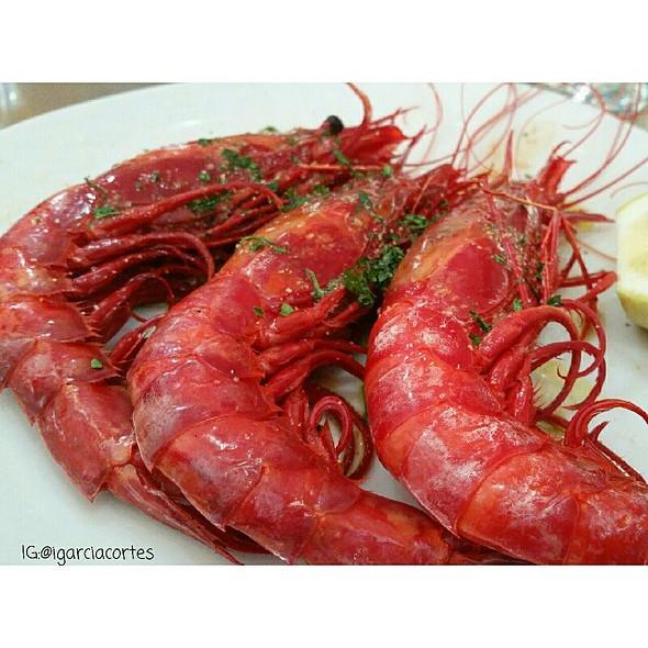 Grilled Red Prawns @ Marisquería Playa