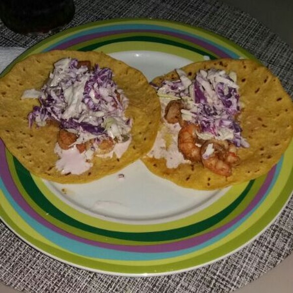 Shrimp Creamy Tacos @ Dharma's Kitchen