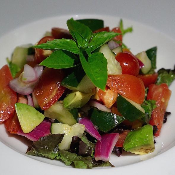 Ceiba garden salad, tomato, avocado, cucumbers, red onion, herbs, garlic vinaigrette @ La Casa Del Lago- Rosewood Mayakoba