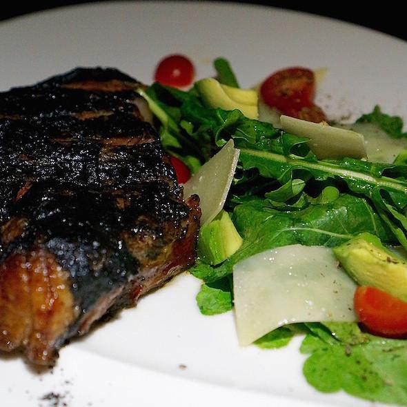 Ribeye Tagliata – recado negro crust, avocado, arugula, parmesan cheese @ La Casa Del Lago- Rosewood Mayakoba