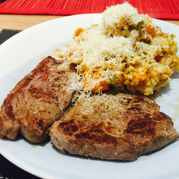 Rump Steak With Pumpkin Risotto @ Chookys