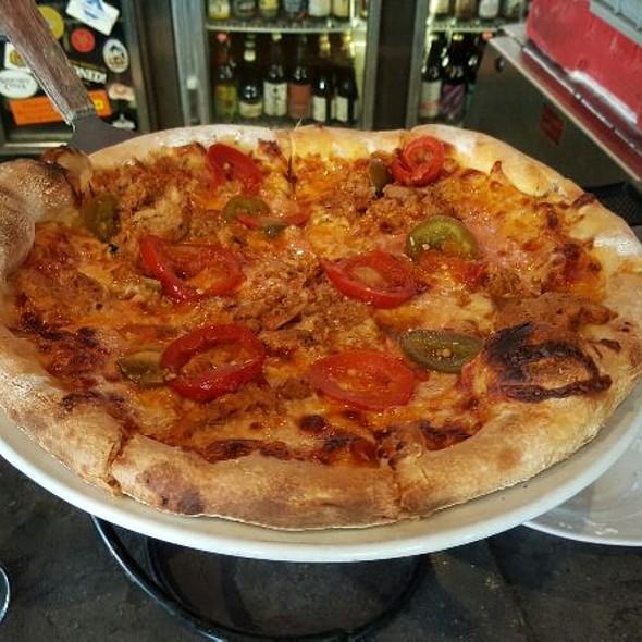 Spicy Chicken Meatball Pizza - Rustico, Alexandria, VA