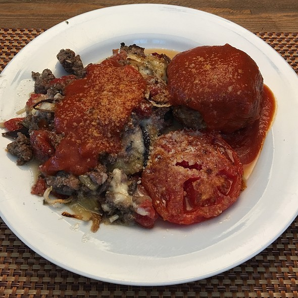 Moussaka With Tomato Sauce And Meatball