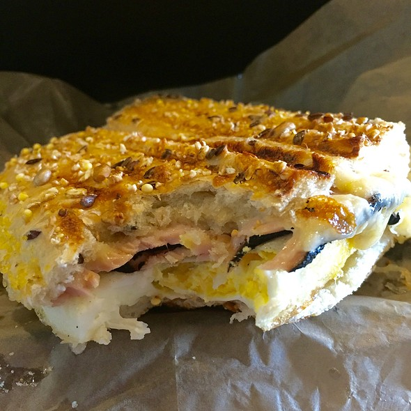 Ham, Egg & Cheese Breakfast Panini @ Rendezvous Cafe