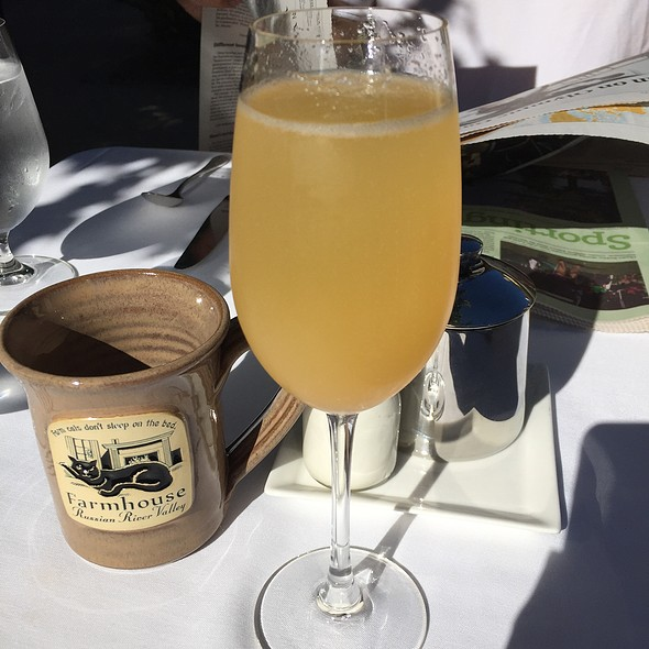 Peach Bellini @ Farmhouse Inn and Restaurant