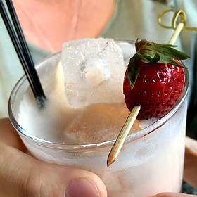 Strawberry Cocktail - Alden and Harlow, Cambridge, MA