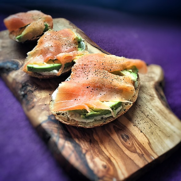 Smoked Salmon Toasts @ Little Venice Country Park