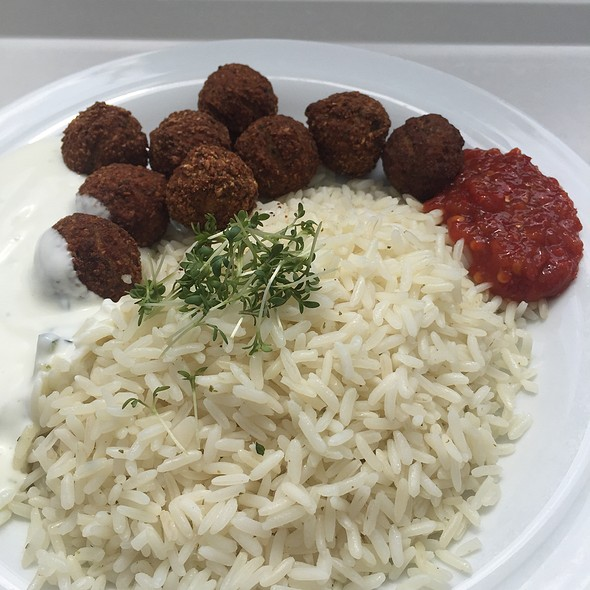 Falafel With Mint Rice
