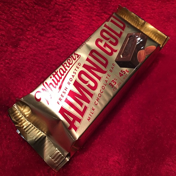 Whittaker's FRESH ROASTED ALMOND GOLD MILK CHOCOLATE BAR @ woolworths