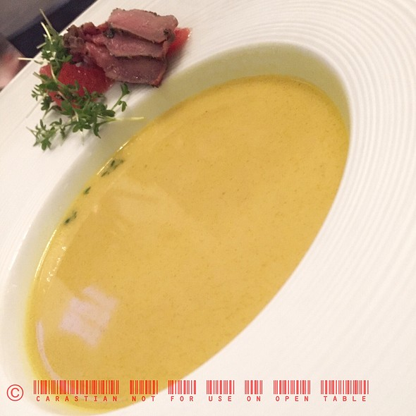 Curry Soup, Duck Breast and Pink Grapefruit @ BNM Restaurant