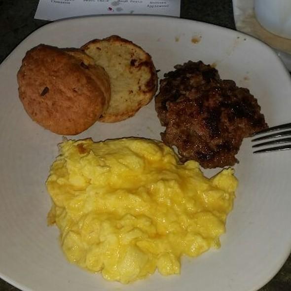 Scrambled Eggs & Cheese Scone