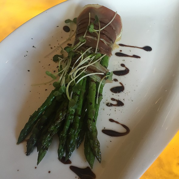 Asparagus with prosciutto  @ Hubbell & Hudson