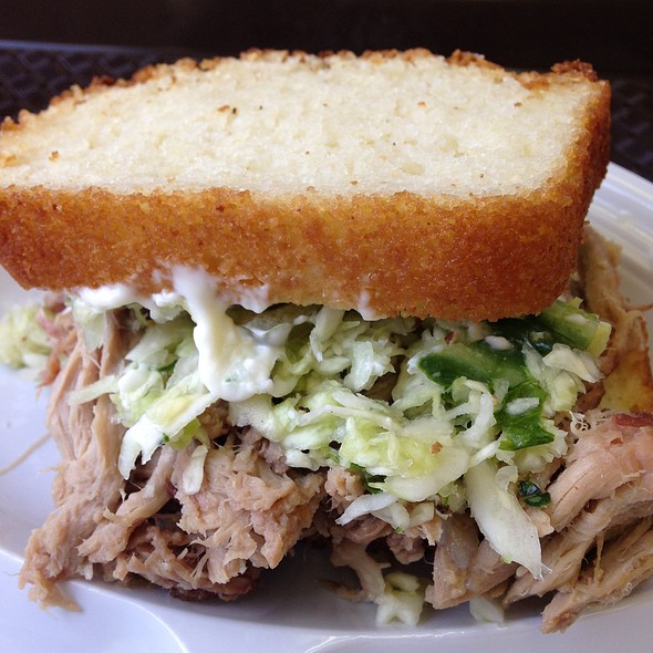 Pulled Pork on Cornbread @ Whitt's Barbecue - Donelson