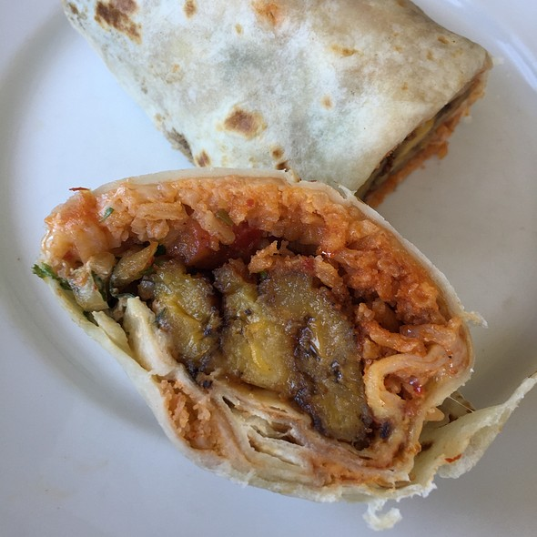 Fried Plantain & Black Bean Burrito @ The Little Chihuahua