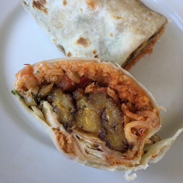 Fried Plantain & Black Bean Burrito @ The Little Chihuahua