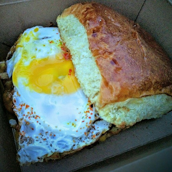 Cheeseburger With Fried Egg @ Belly Shack