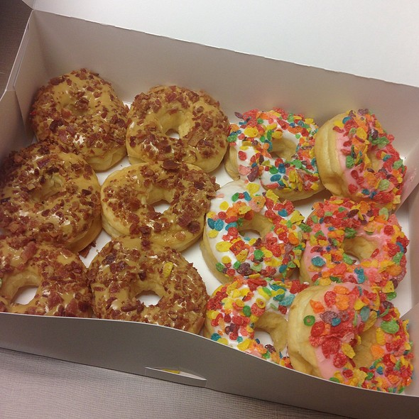 Maple Bacon & Fruity Pebble Donuts