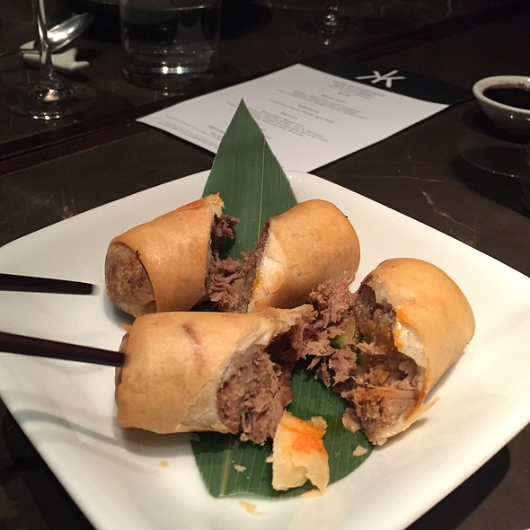 Lamb Pan Rolls With Eggplant Relish - Hakkasan - Fontainebleau Miami Beach, Miami Beach, FL