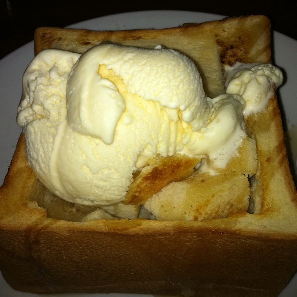 Honey Toast with Ice cream @ Shokudo Japanese Restaurant & Bar