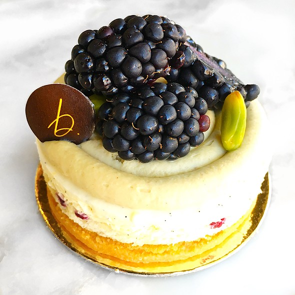 Blackberry Pistachio Bavarois