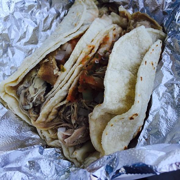 Chicken and Carnitas Soft Tacos @ LOS CABALLITOS DELI