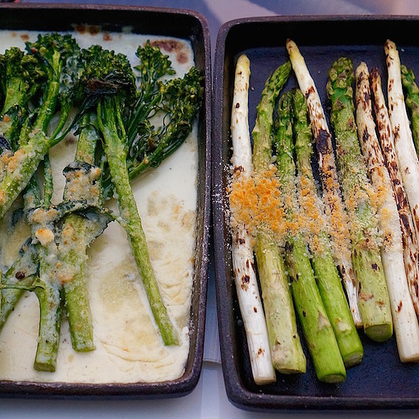 Broccolini And Asparagus In Garlic Butter