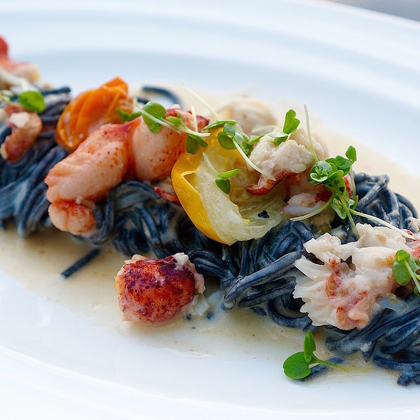 Squid Ink Pasta with Lobster