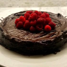 Flourless Chocolate Cake With Ganache - UPSTAIRS 2, Los Angeles, CA