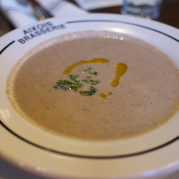 Mushroom soup @ Aixois