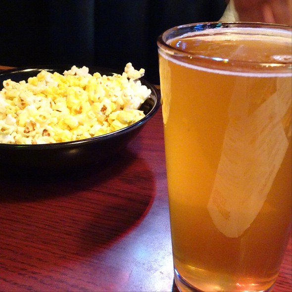 Popcorn And Awesome Blonde Beer