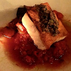 seared fish - Cantinetta Luca, Carmel, CA