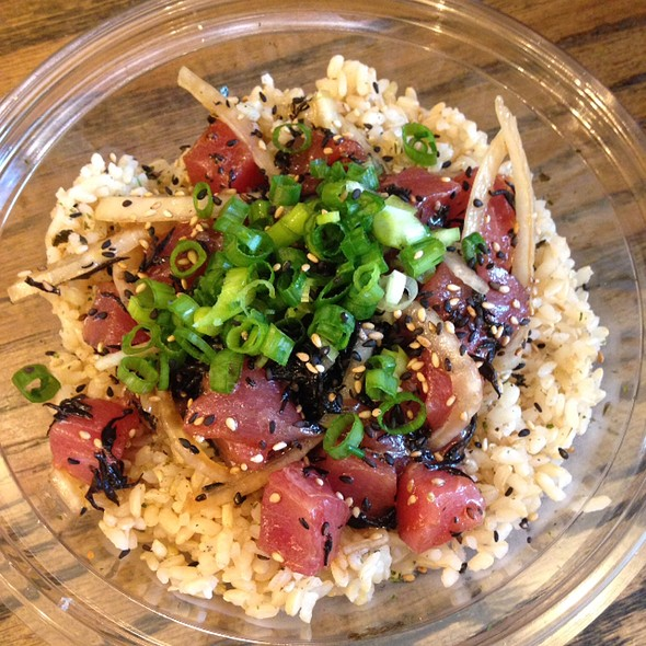 Hawaiian Style Poke On Brown Rice