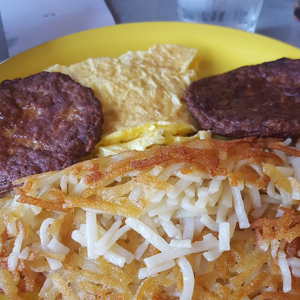Turkey Sausage, Home Fries and Eggs @ SunFlower Family Restaurant