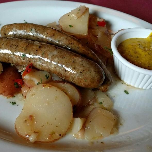 Thüringer Bratwurst Over German Potato Salad