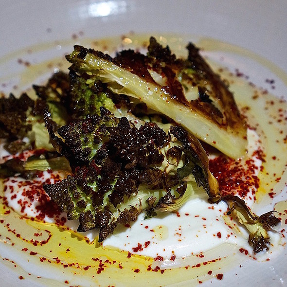 Pan-roasted romanesco, house yogurt, local honey @ Ema