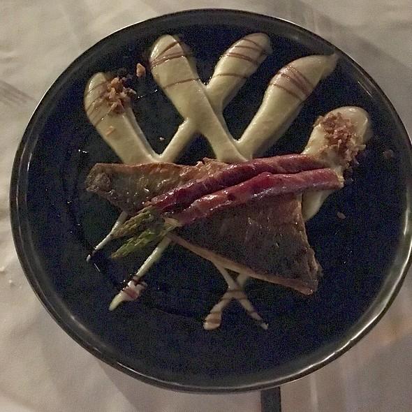 Seabass with Cauliflower Puree