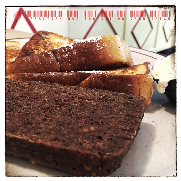 French Toast With Scrapple @ Cambridge Diner