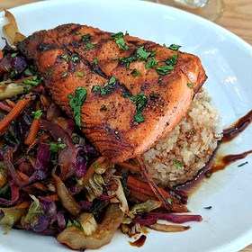 Salmon Rice Bowl - Sacks Cafe and Restaurant, Anchorage, AK