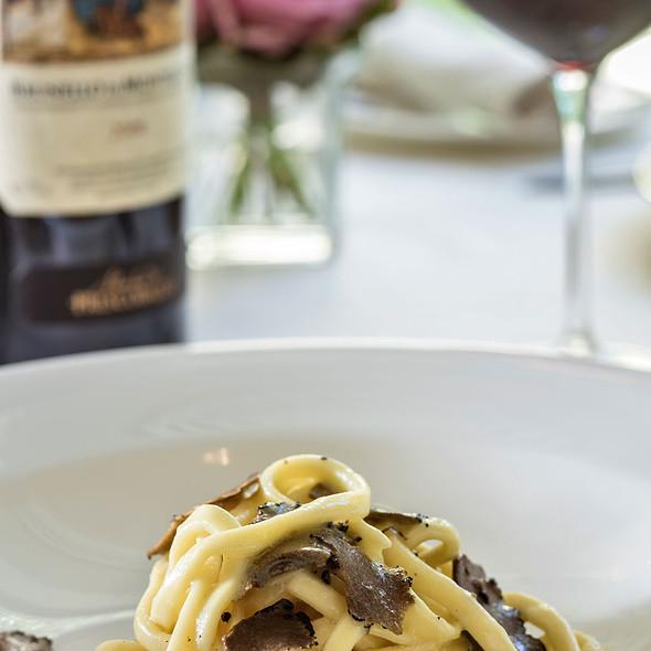 Homemade Pici with Black Truffles  @ Relais Le Jardin
