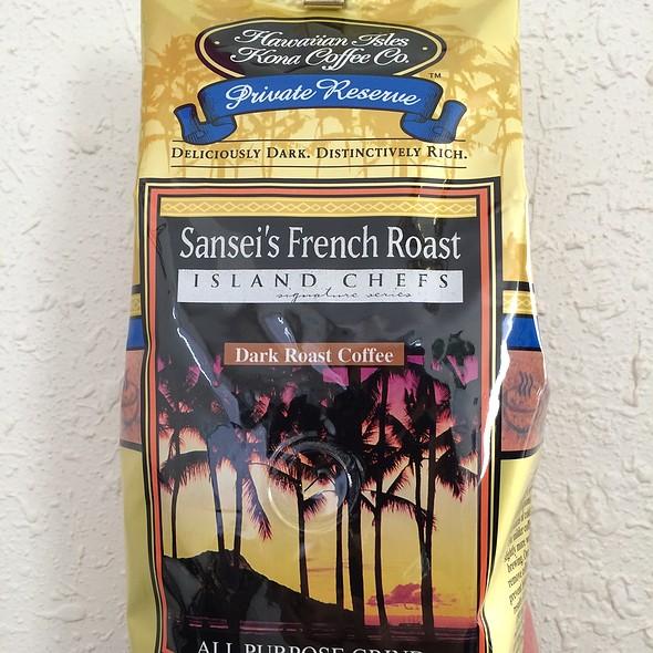 Sansei's French Roast Coffee @ Hawaiian Isles Kona Coffee Co