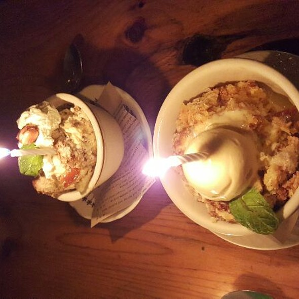 Ricotta And Orange Bread Pudding With Lavender Honey Ice Cream - Barbuzzo Restaurant, Philadelphia, PA