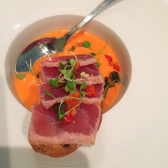 Seared Ahi Tuna With Gazpacho