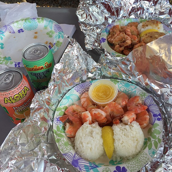 Garlic Shrimp with Rice @ Giovanni's Original Shrimp Truck