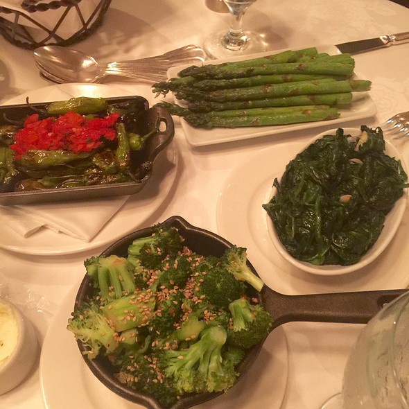Broccoli Asparagus Spinach Shisito Peppers - Grill 23 & Bar, Boston, MA