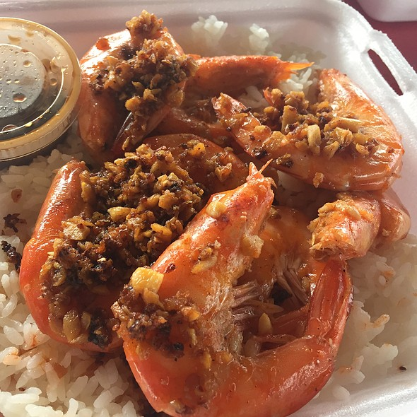 Garlic And Butter Shrimp @ Romys Kahuku Prawns Fish Inc