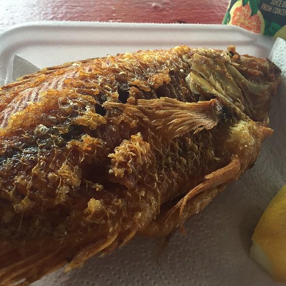 Fried Sun Fish @ Romys Kahuku Prawns Fish Inc