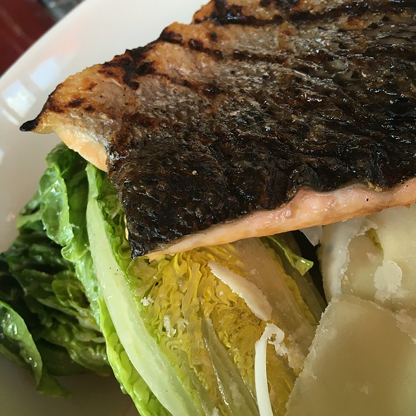 Ceasar Salad With Grilled Salmon @ The Bonney Read